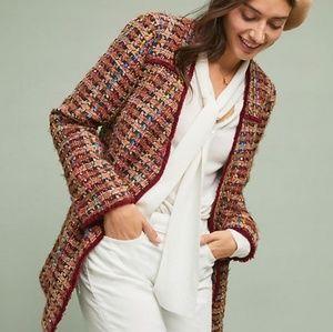 NEW Anthropologie ett:twa Harlequin Tweed Blazer